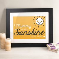 Personalised You Are My Sunshine Print - Sunshine Gifts