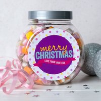 Personalised Dolly Mixture Jar - Spotty Christmas - Spotty Gifts