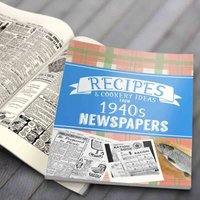Newspaper Recipe Decade Book - 1940s - Newspaper Gifts