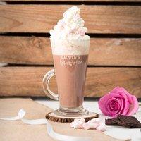Engraved Glass Mug - Hot Chocolate, Any Name - Hot Chocolate Gifts