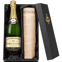 Personalised Champagne & Original Newspaper - Newspaper Gifts