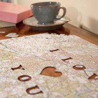 Personalised Postcode Jigsaw Puzzle - We First Met Here - Jigsaw Puzzle Gifts