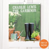 Personalised Gardening Calendar -  3rd Edition - Gardening Gifts