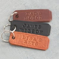 Personalised Posh Totty Designs Leather Key Ring - Key Ring Gifts