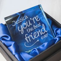 Personalised Glass Token - The Best Friend Ever - Best Friend Gifts