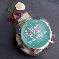 Personalised Haribo Sweet Jar - Santa's Little Helper - Haribo Gifts