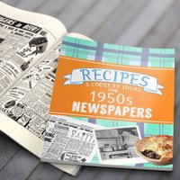 Newspaper Recipe Decade Book - 1950s - Newspaper Gifts