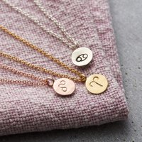 Personalised Posh Totty Designs Small Zodiac Necklace - Posh Gifts