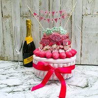 Pink Candy Toffee Crisp Cake - Candy Gifts