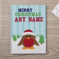 Personalised Notebook - Ralphy Robin - Robin Gifts
