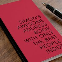 Personalised Address Book - Awesome Address Book - Book Gifts