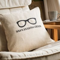 Personalised Natural Cushion - Reading Chair - Reading Gifts