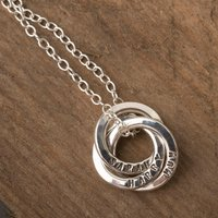 Personalised Posh Totty Designs Mini Russian Ring Necklace