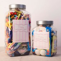 Personalised Retro Sweet Jar - Happy Mother's Day, Pink