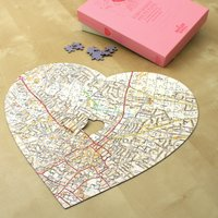 Personalised Heart-Shaped Map Jigsaw - Jigsaw Gifts