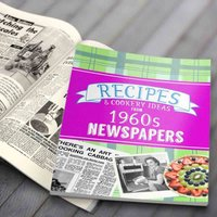 Newspaper Recipe Decade Book - 1960s - Newspaper Gifts