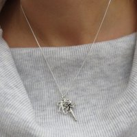 Personalised Cross Charm Necklace - Any Initial - Charm Gifts