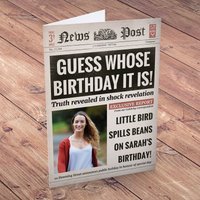 Photo Upload Card - Birthday News, Whose Birthday is it? - News Gifts