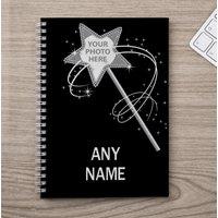 Photo Upload Notebook - Magic Wand - Photo Gifts