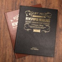 Personalised Sports Book - Rugby League Challenge Cup - Rugby Gifts
