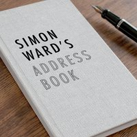 Personalised Address Book - Canvas Design - Book Gifts