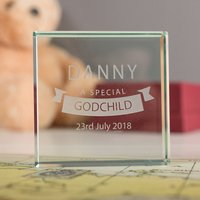 Personalised Glass Token - Special Godchild