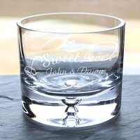 Personalised Glass Bowl - Sweet Love - Bowl Gifts