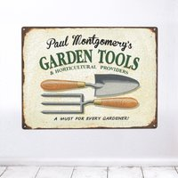Personalised 'Garden Tools' Metal Sign - Tools Gifts