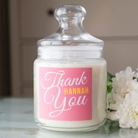 Personalised Deluxe Jar Candle - Thank You - Candle Gifts
