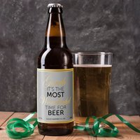Personalised Beer - The Most Wonderful Time For Beer - Beer Gifts