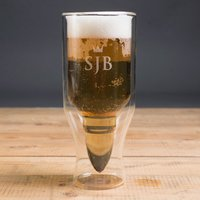Personalised 50 Calibre Bullet Beer Glass - Beer Glass Gifts