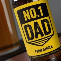 Personalised Beer - No. 1 Dad - Beer Gifts