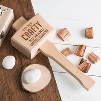 Personalised Wooden Mallet - Crafty Husband - Husband Gifts