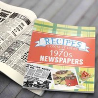 Newspaper Recipe Decade Book - 1970s - Newspaper Gifts