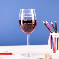 Personalised Wine Glass - Teacher Measures - Wine Glass Gifts