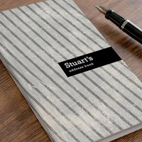 Personalised Address Book - Grey Stripes - Book Gifts