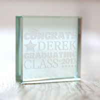 Personalised Glass Token - Graduation - Graduation Gifts