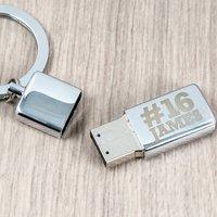 Personalised USB Key Chain - Hashtag 16 - Usb Gifts