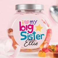 Personalised Haribo Sweet Jar - Big Sister - Sister Gifts