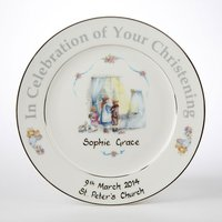 Personalised Hand-Painted Christening Plate