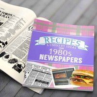 Newspaper Recipe Decade Book - 1980s - Newspaper Gifts