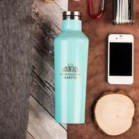 Personalised Corkcicle® Turquoise Canteen - Ain't No Mountain High Enough - Turquoise Gifts