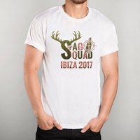 Personalised White T-Shirt - Stag Squad - Stag Gifts