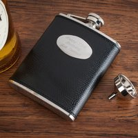 Engraved Leather Hip Flask - Flask Gifts