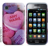 Personalised Samsung Phone Cover - Candy Hearts - Phone Gifts