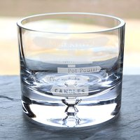 Personalised Glass Bowl - Sweet Treats Sign - Bowl Gifts