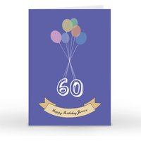Personalised Card - Balloons 60 - Balloons Gifts