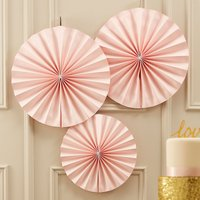 Pastel Perfection Pink Circle Fan Decorations - Decorations Gifts