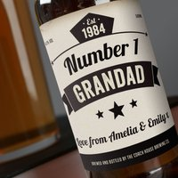 Personalised Beer - Number 1 Grandad - Grandad Gifts