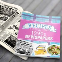 Newspaper Recipe Decade Book - 1990s - Newspaper Gifts